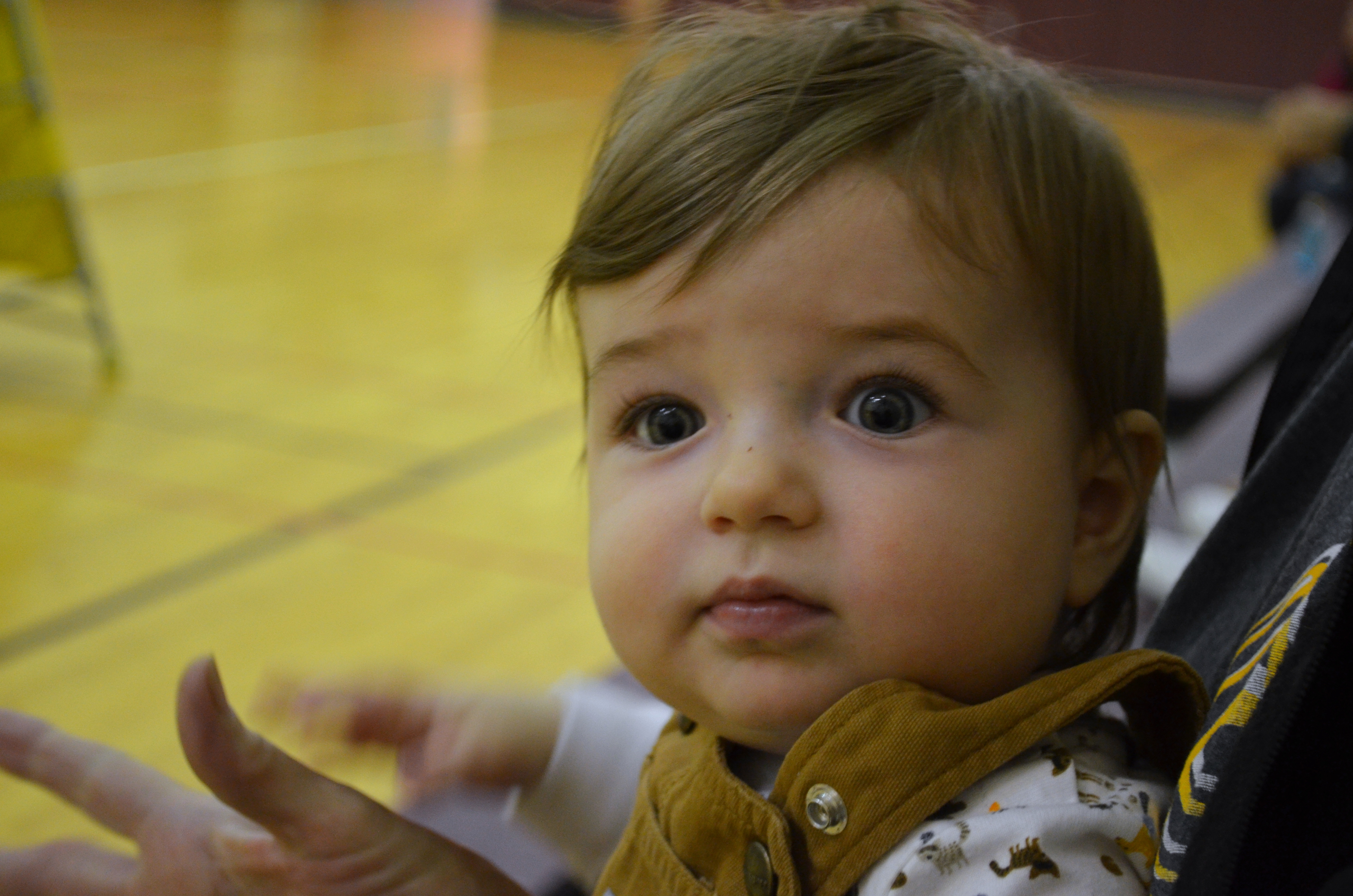 jenson at volleyball game