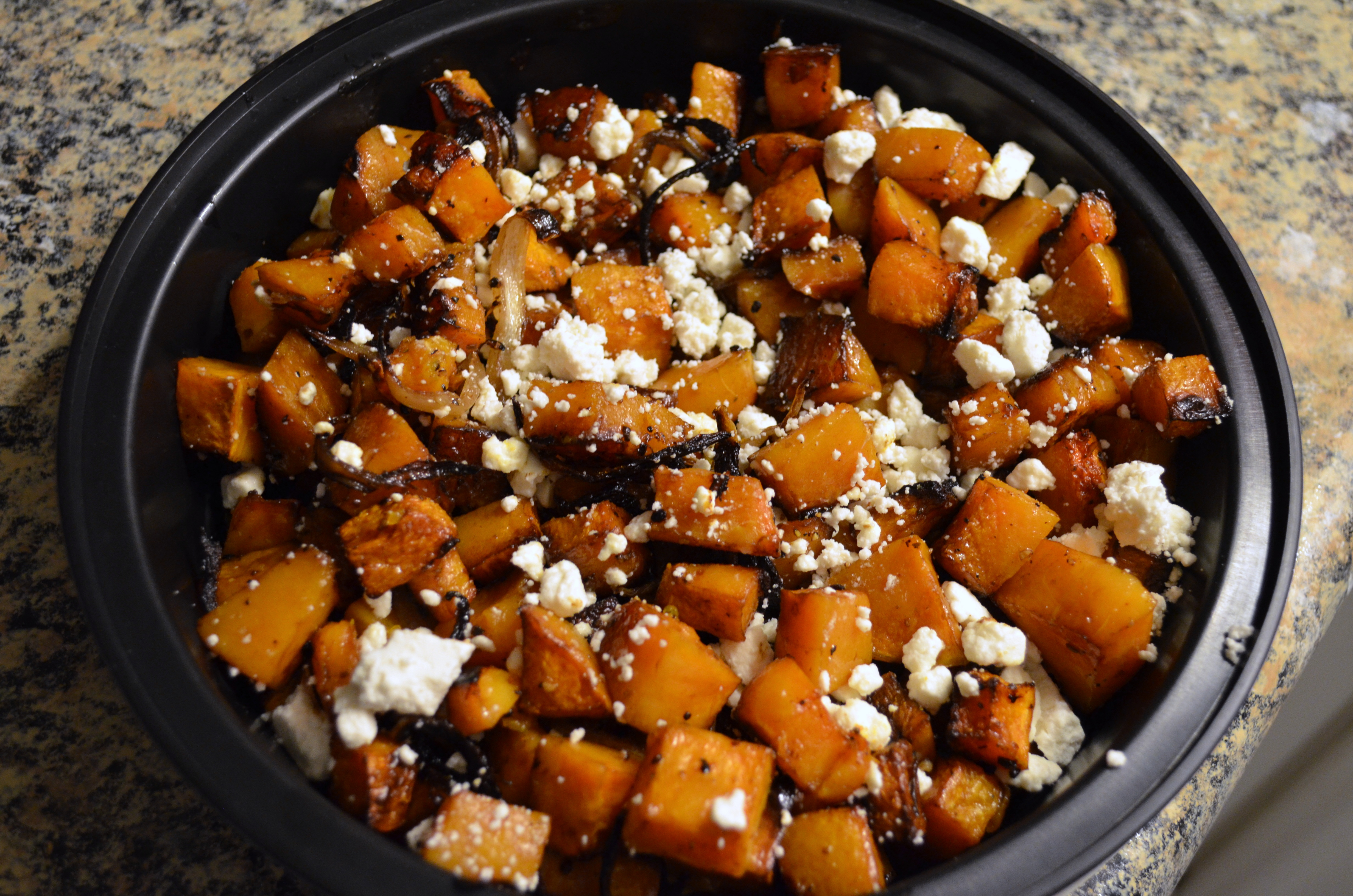 Roasted Balsamic Butternut Squash with Goat Cheese